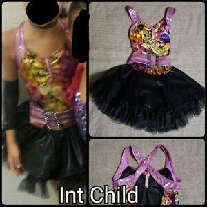 Small/Medium Child Purple/Yellow Weissman Dance Costume