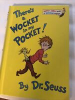 1974 DR SEUSS~THERE'S A WOCKET IN MY POCKET~HB~HARDCOVER~BOOK CLUB EDITION