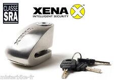 Antivol Bloque disque Alarme XENA XX10 Acier Classe SRA Moto Scooter  Homologué 360a620cbcdc