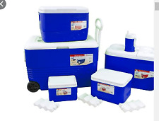 More details for ice chest with wheels 6 piece set blue outdoors