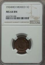 MEXICO ESTADOS UNIDOS 1924 1 CENTAVO COIN CERTIFIED CHOICE UNCIRCULATED NGC MS64
