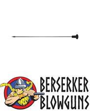 "100 Pk .40 Cal 5"" Pro Length Spearhead Darts  - Black by Berserker Blowguns"