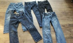 LOT Of 5 pairs of BOYS LEVIS JEANS SZ 12 REG 505 511 510 514 regular straight