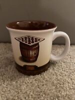 CRACKER BARREL Mug Old Country Store Checkers Game Heavy Ceramic