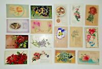 LOT OF  30 GREETINGS ANTIQUE  POSTCARDS SOME ARE EMBOSSED