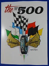 2015 Indianapolis 500 99th Runing Program w/ Starting Up Corvette Montoya Penske