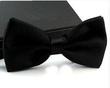 Mens Black Tuxedo Bow Tie Pre Tied Adjustable Business Formal  Neckwear 001