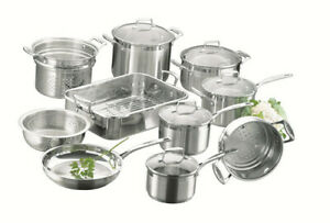 SCANPAN IMPACT STAINLESS STEEL 10PC COOKWARE SET RRP$1129