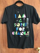 "NWT Star Wars Small T-Shirt "" I Am A Force For Change "" Graphic (17) STEVE AKOI"