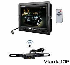 Kit retromarcia wireless con telecamera grandangolare e 2 sensori di parcheggio