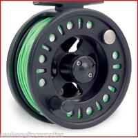 Shakespeare 6/7 Fly Fishing Reel With Line Backing + Leader fitted Yellow 6 F