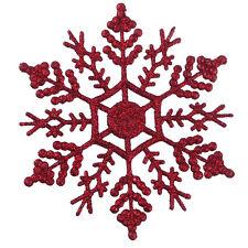 12 Stück 10cm Schneeflocken Weihnachtsbaum Schmuck Deko Fenster- Glas Deko