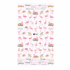 Colorful Adhesive Flamingo Nail Water Decal Transfer Stickers DIY Manicure Decor