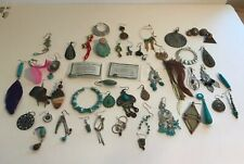 Lot Of Southwest SINGLE or BROKEN Earrings CRAFTING Turquoise
