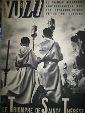 MAGAZINE VU 487 FETES DE LISIEUX SAINTE-THERESE GANSTERS DU CINEMA (2) 1937