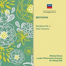 Sir Georg Solti Mischa Elman - Beethoven Symphony No 4   Violin Concerto [CD]