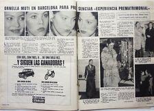 ORNELLA MUTI in Barcelona: 2 pages 1973 Spanish CLIPPING !!!