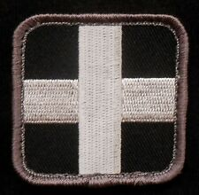 MEDIC SQUARE EMT EMS CROSS ARMY US MILITARY SWAT VELCRO® BRAND FASTENER PATCH 2""