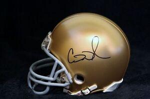 Cierre Wood Signed Notre Dame Fighting Irish Mini Helmet COA