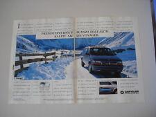 advertising Pubblicità 1994 CHRYSLER VOYAGER