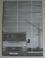 FORD CHASSIS CABS 2006 RANGE CAR BROCHURE. SWB MWB LWB DOUBLE CAB EXTENDED FRAME