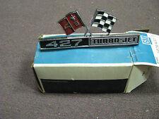 NOS 1966 Corvette 427 Cross Flag Fender Emblem #3876425