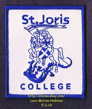 LMH PATCH Woven Badge  ST JORIS COLLEGE  Sint Georges  Salsbachweg NETHERLANDS