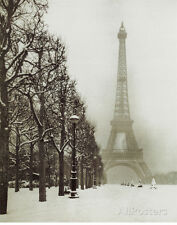 Paris In The Snow (Eiffel Tower) Art Poster Print Mini Poster Print, 16x20