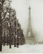 Paris In The Snow (Eiffel Tower) Art Poster Print Mini Poster Print, 16x20