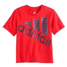 NEW w/Tags Adidas Red Mountain Logo Little Boys T-Shirt Size 4 - FREE Shipping!