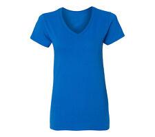 Women V-neck Premium Basic T-shirt Extra Soft lightweight Sizes S - 2XL