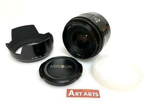 【 EXCELLENT+++++ w/HOOD 】 Minolta AF 35mm f/2 Lens for Minolta Sony A from JAPAN