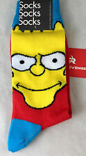 NEW 1 Pair SIMPSONS TV Show Socks Bart Yellow Red Blue 6.5-12.5 Cartoon