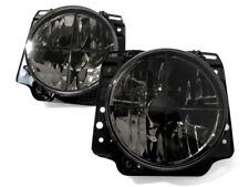 LHD VW Golf MK2 2 Black Smoke Clear Headlight Cross Hair Head Light Lamp GTI-