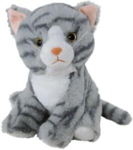 Cat Grey Tabby Plush Stuffed Toy 20cm 8in Otis by Elka Australia