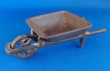 "Vintage Antique Cast Iron Toy Wheelbarrow 2 Pieces 6-1/4"" Long"