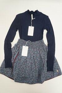 Pomp De Lux Set Callie T-Shirt & Naja Rock Mädchen Kleid blau Gr. 134-140 #P60