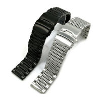Double Clasp Wrist Watch Bracelet Band Strap Replacement Strap Stainless Steel