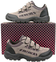 Womens New Grey Pink Hiking Walking Trail Trainers Size 3 4 5 6 7 8