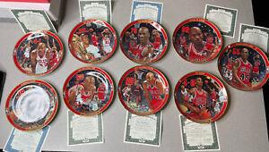 Vintage Michael Jordan Chicago Bulls Upper Deck Plates W/ COA Lot Of 9