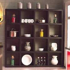 Black Display Shelves With 16 Compartments Doll House Miniatures, Shop 1:12th
