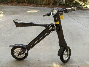 Black Knight Electric Scooter w/ Bluetooth Speaker