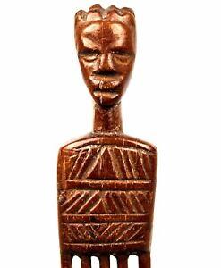 Art Africain - Ancien Peigne Baoulé - African Comb Kamm Africano Africa - 23 Cms