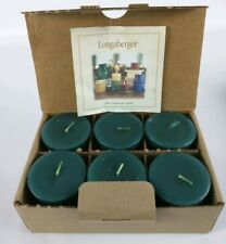 Longaberger Votive Candles Herbal Garden Scent ~ 6 Pack Nos
