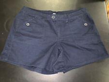 Venezia Navy Blue Shorts Stretch Size 20, Cotton blend, 2% Spandex