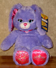 Build a Bear Purple Pawrincess Bunny Sparkly Princess Themed 17in. Stuffed Toy