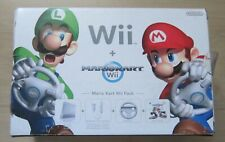 Nintendo Wii Mario Kart Pack consola de juegos en blanco con en OVP