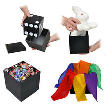 TRANSFORMING CUBE + DVD Die Box Change Production Magic Trick Dove Candy Silks