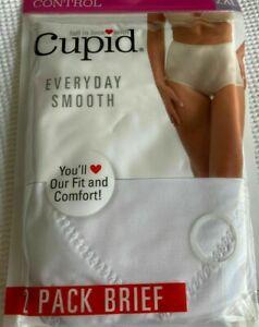 Cupid Light Control 2 Pk Briefs Women's White sizes M,L,XL,2X