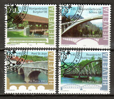 Switzerland - 2003 Pro Patria / Bridges -  Mi. 1832-35 VFU